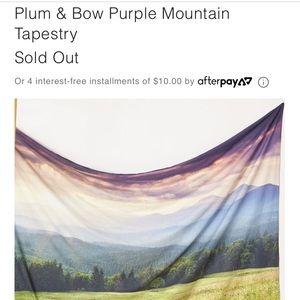 Plum & Bow Purple Mountain Tapestry